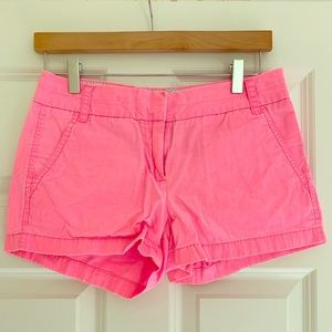 Hot Pink J. Crew Chino Shorts